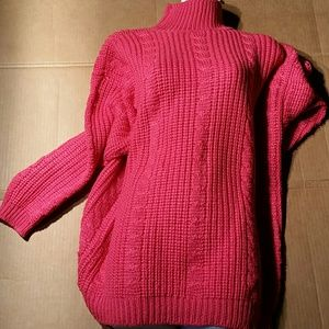 Espirit Sport Hot Pink Oversize Sweater. S